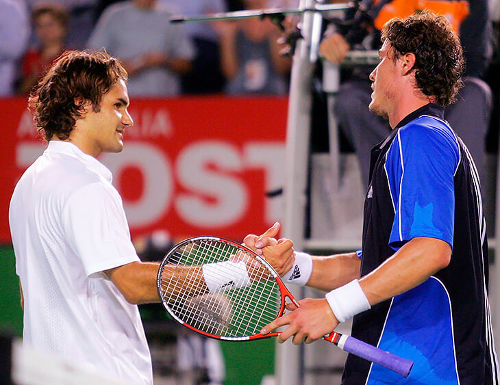 Сафин и Федерер снова встретились на корте: Марат готовил Роджера к матчу Australian Open