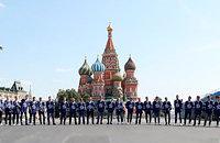 «Динамо» представило команду на Красной площади. Посмотрите, как там пустынно