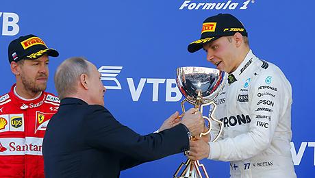 Боттас вырвал победу у Феттеля на Гран-при России