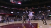 LeBron James rises for the jam!