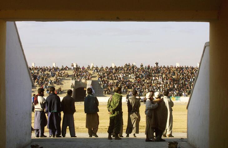 Стадион в Кабуле – место публичных казней. Расстрелы проводили перед матчами, а на ворота вешали отрубленные руки