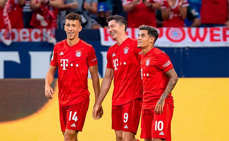 Бенефис Левандовски ввидеообзоре матча Шальке— Бавария— 0:3— Футбол 24