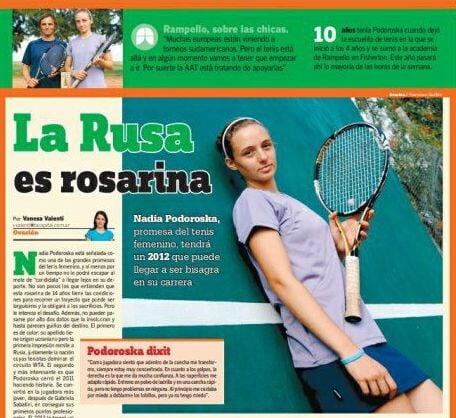 Аргентинка Подорошка (которую называют Русской) сотворила историю – из квалификации вышла в 1/2 финала «Ролан Гаррос»