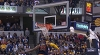 LeBron James with the rejection vs. the Pacers