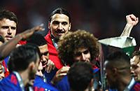 Манчестер Юнайтед, фото, Златан Ибрагимович, Лига Европы, болельщики