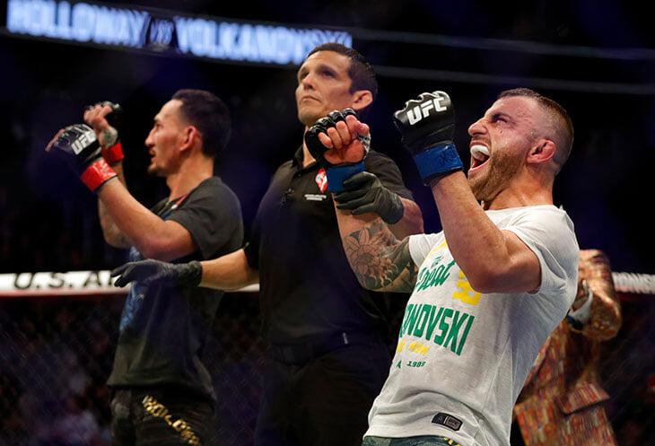 Титульный бой полулегкого веса на UFC 251 – лучшее, что может быть в этом дивизионе. Холлоуэй и Волкановски настоящие маньяки ударов