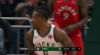 Eric Bledsoe rattles the rim on the finish!