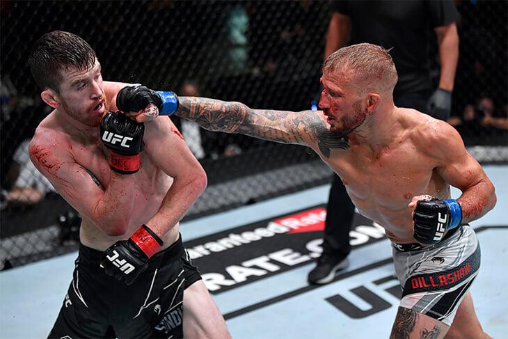 Экс-чемпион UFC вернулся после допинг-дисквалификации. Диллашоу победил, но совсем не впечатлил и даже побывал в нокдауне