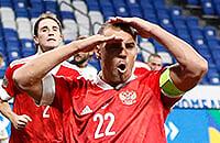 Россия обыграла Сербию. Дзюба забил два, а Караваев запустил ракету в девять ????