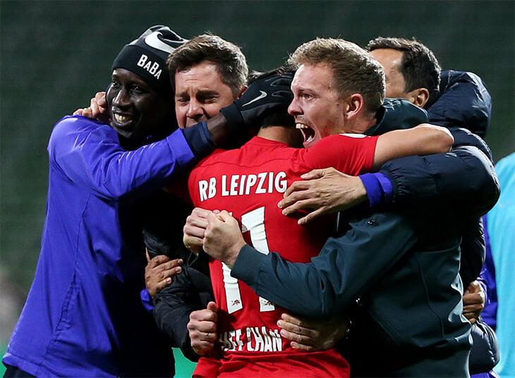 Напоследок Нагельсманн может взять с «Лейпцигом» первый трофей: вышли в финал Кубка благодаря победному на 120+
