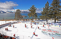 НХЛ сыграла на озере Тахо: все очень красиво, но со льдом – катастрофа. После одного периода ушли на 9-часовой перерыв