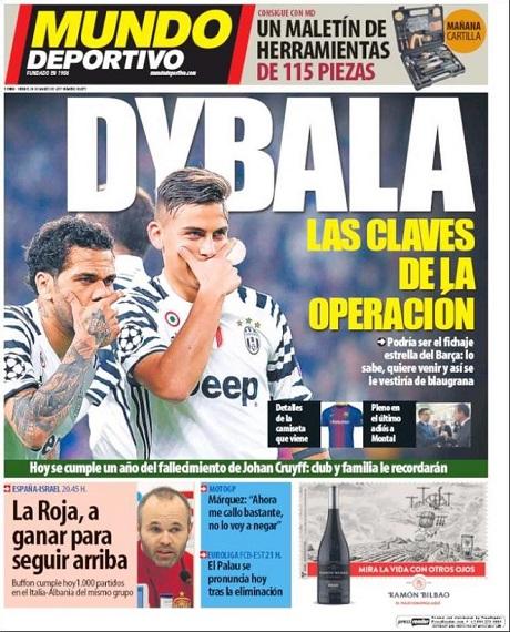 Дибала желает включить в договор с«Ювентусом» пункт опереходе в«Барселону»
