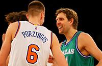 видео, НБА, Кристапс Порзингис, Дирк Новицки, Даллас, Нью-Йорк