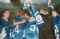 В 1995-м «Зенит» пролез в РПЛ за счет расширения лиги: Мутко на радостях целовал Садырина, а Собчак помогал деньгами