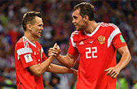 Выбираем лучшего игрока матча Россия – Швеция. Пока лидируют Дзюба, Фернандес и Зобнин