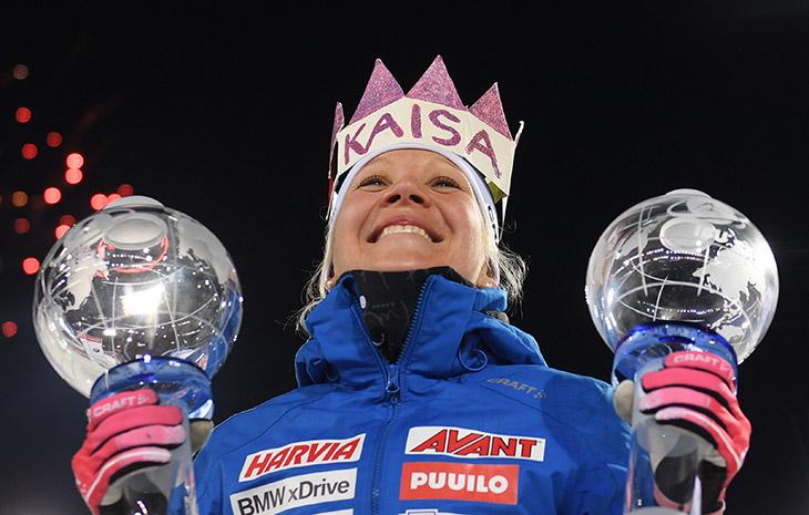 масс-старт (жен), Анастасия Кузьмина, Кубок мира по биатлону, Кайса Мякяряйнен