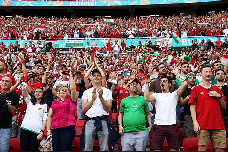 Больше 60 000 болельщиков. Матч Венгрия - Португалия проходит на почти заполненном стадионе - изображение 1