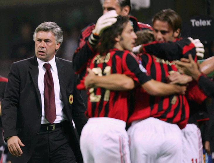 Стамбул-2005. «Милан» Анчелотти – великий. Карло переоткрыл старые схемы и создал самую непредсказуемую атаку 2000-х