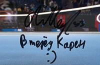 Медведев написал на экране «Вперед, Карен». Сразу после победы думал о сложном матче Хачанова