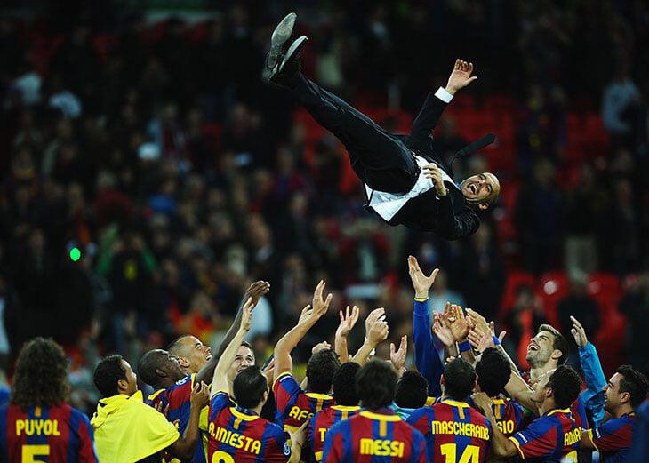 Гвардиола в финале ЛЧ спустя 10 лет! Тогда великая «Барселона» победила «МЮ»