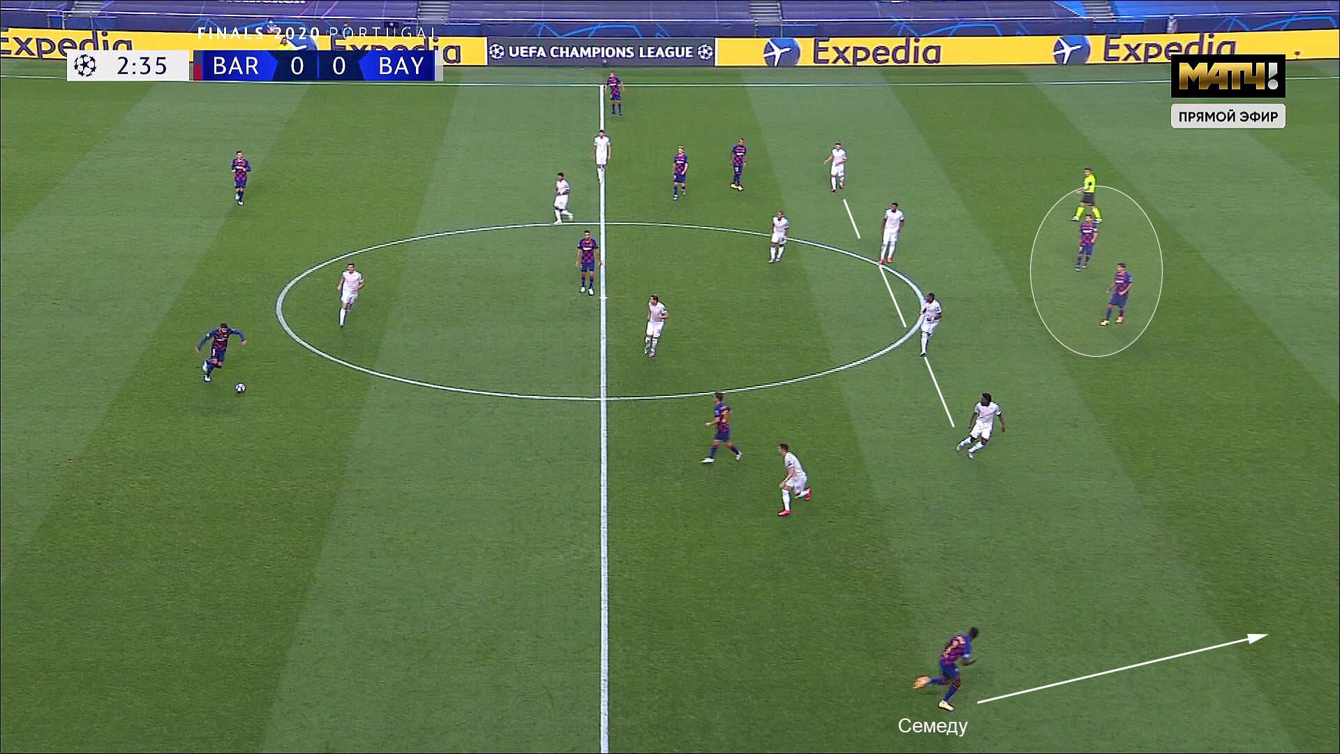 «Бавария» наказала «Барселону» за оборону в 8 человек. В этом матче Месси был проблемой, а не решением