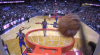 Kelly Oubre Jr. with one of the day's best dunks