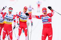 Александр Большунов, Максим Вылегжанин, марафон, Андрей Ларьков, лыжные гонки, Кубок мира, сборная Норвегии