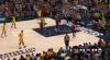 LeBron James sends the shot away