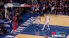 Enes Kanter rattles the rim on the finish!