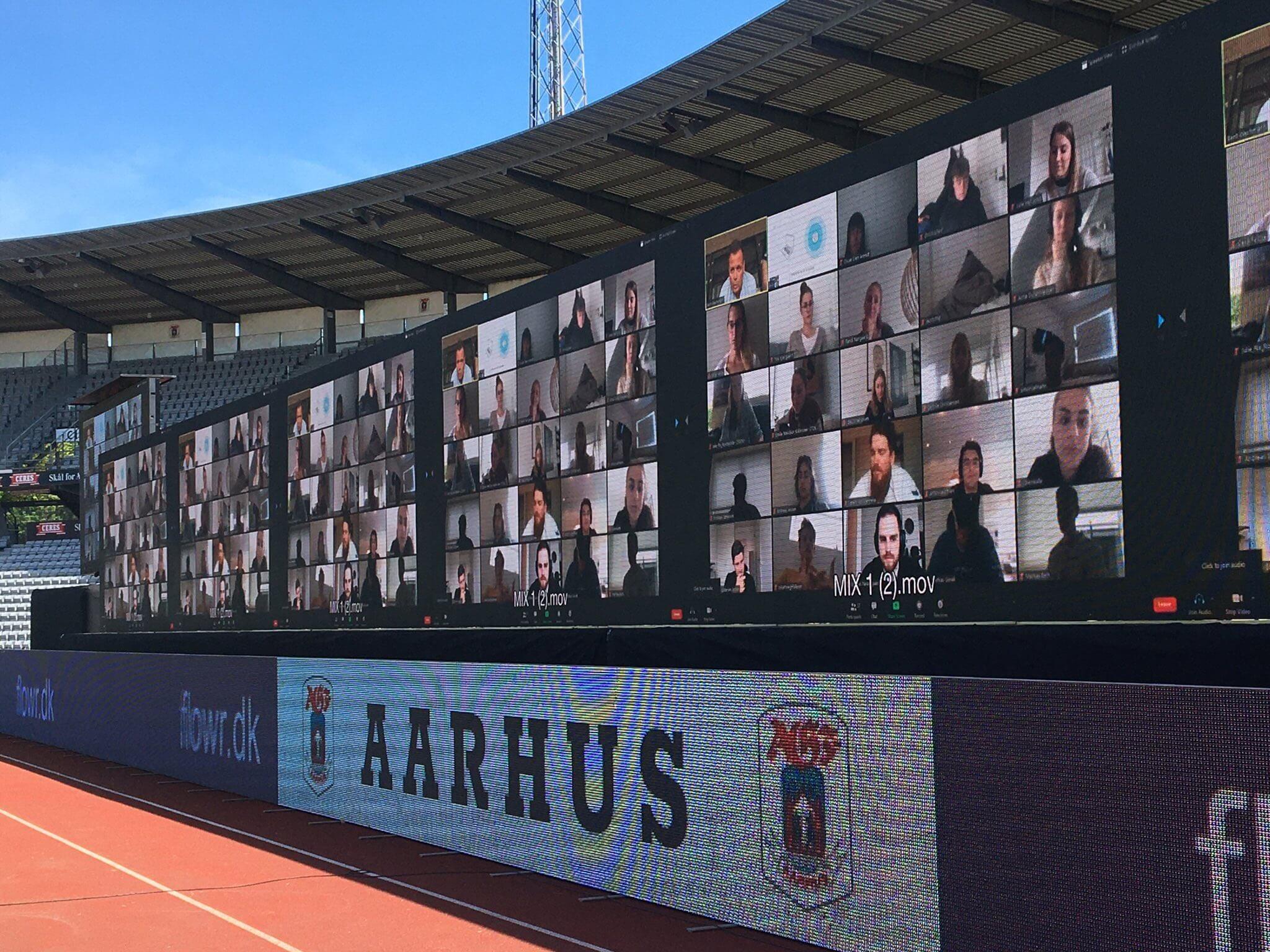 Тысячи Zoom-зрителей в Дании – лучший перфоманс рестарта. «Орхус» подружился с сервисом, воссоздал трибуны и аккуратно добавил офлайн