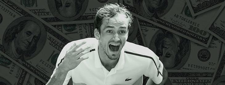 деньги, Даниил Медведев, US Open