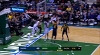 Giannis Antetokounmpo with a huge block!