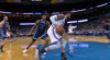 Steven Adams rattles the rim on the finish!