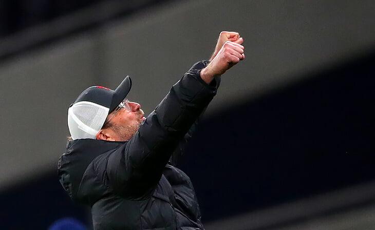 Какой же Клопп довольный: «Ливерпуль» наконец-то забил (понадобилось 94 удара) и уложил «Тоттенхэм»