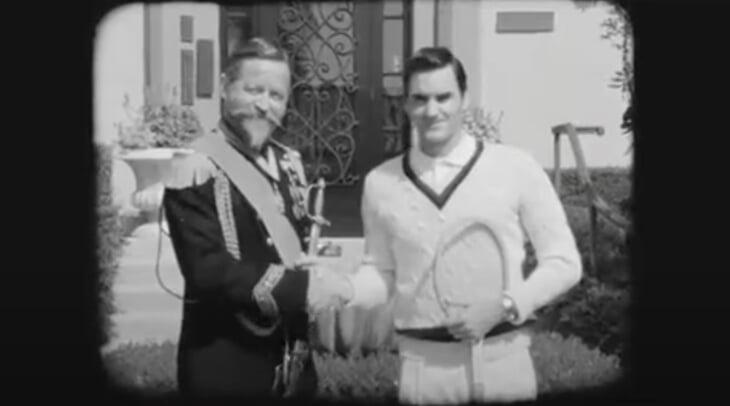 Однажды Федерер превратился в голого Борга, злого Макинроя и блондина Агасси. Все для рекламы