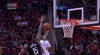 Clint Capela gets up for the big rejection