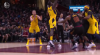 Lance Stephenson rattles the rim on the finish!