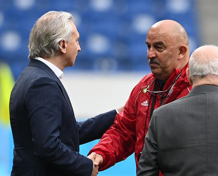 Первая пресс-конференция Карпина в сборной: Дзюба – важный игрок, совмещение – лишь на короткий срок