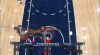 Karl-Anthony Towns gets up for the big rejection