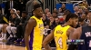 Julius Randle scores and draws the foul