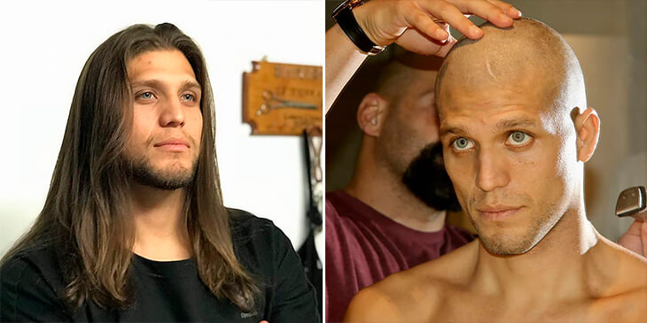 Боец UFC сбрил волосы для детей после химиотерапии: из них будут делать парики. А после ярко победил