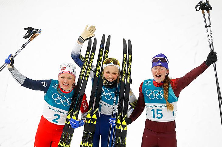 Большунов и Белорукова - бронзовые призеры Олимпиады в лыжном спринте