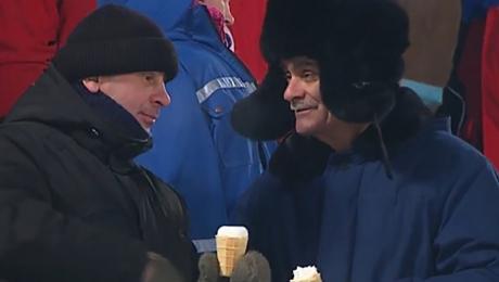 Мороженое в –33°С. Суровые болельщики русского спорта
