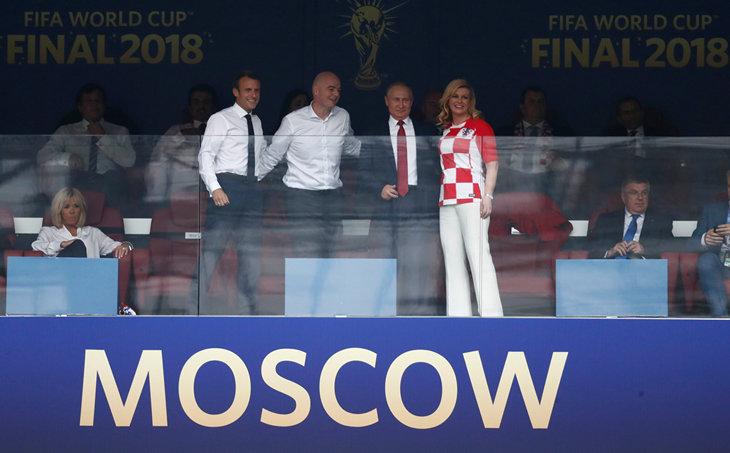Путин, Макроны и Грабар-Китарович на финале ЧМ. ФОТО