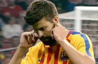 Пике ответил Мадриду жестом Фигу. Скандал продолжается
