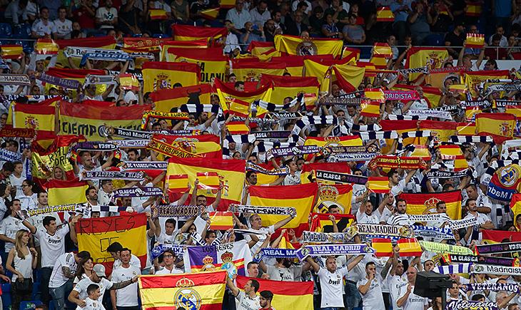 Болельщики «Реала» провели акцию протеста против референдума вКаталонии