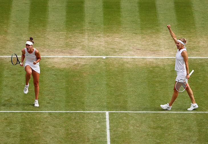 Веснина – королева! На «Уимблдоне» с Кудерметовой отыграла 7 матчболов и вышла во второй финал «Шлема» за 4 недели