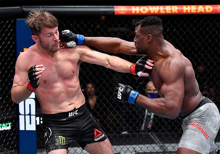 У Нганну 10 нокаутов за полчаса. Его статистика в UFC – сумасшествие