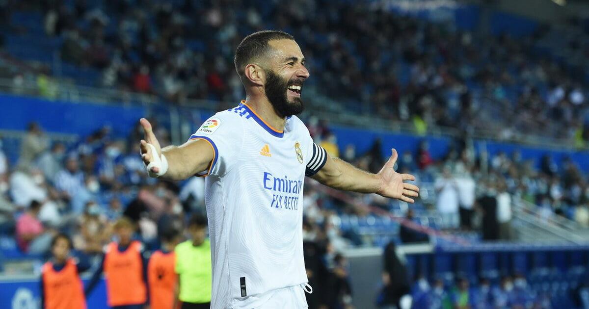 У Бензема 9 (54) очков по системе голпас в 4 матчах Реала  он лидер Ла Лиги