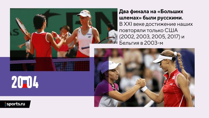 Великий 2004-й русского женского тенниса: 3 «Больших шлема», 15 титулов. После нас так не доминировал никто
